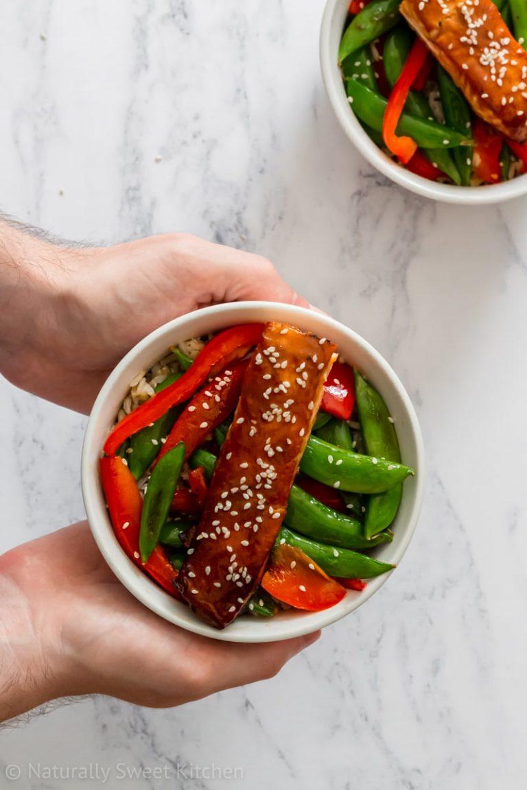 Maple Miso Salmon Stir Fry