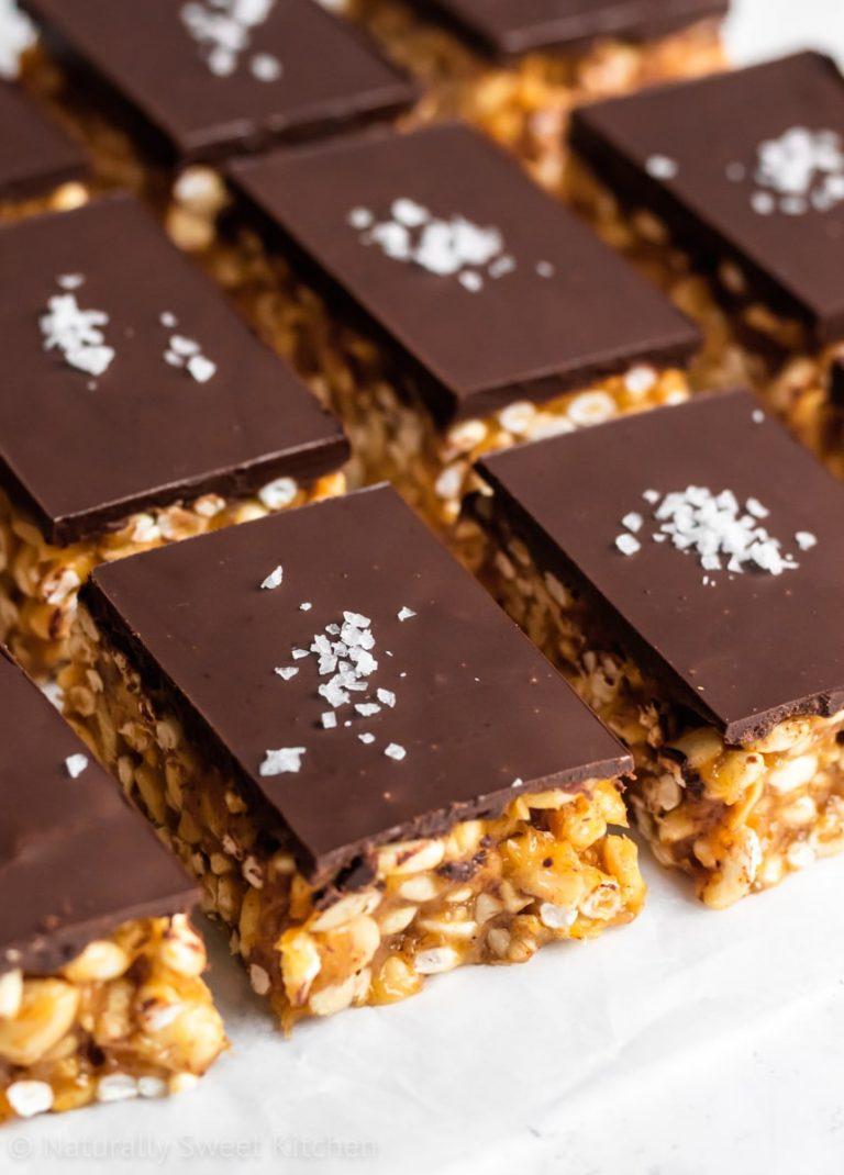 The Best Crispy Chocolate Peanut Butter Bars