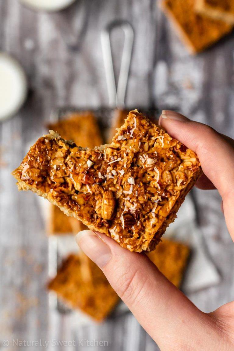 Easy Honey Almond Flapjacks